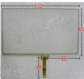 4.3 inch Touch Screen Panel 103x 63mm for Handwritten Screen Panel GPS PSP MP4 MP5