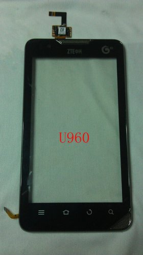 Original Touch Screen Panel Digitizer Handwritten Screen Panel Panel with front Cover Repair Replacement for ZTE U960