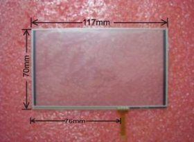 5 Inch Touch Screen Panel 117mmx70mm Universal Touch Screen Panel for GPS MP4 MP5 Navigator