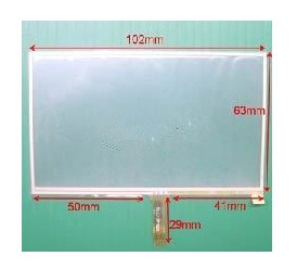 102mmx63mm Touch Screen Panel 4.3 Inch Touch Screen Panel for GPS MP4 MP5 Navigator